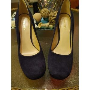 Nine West Navy Blue Platform Heel